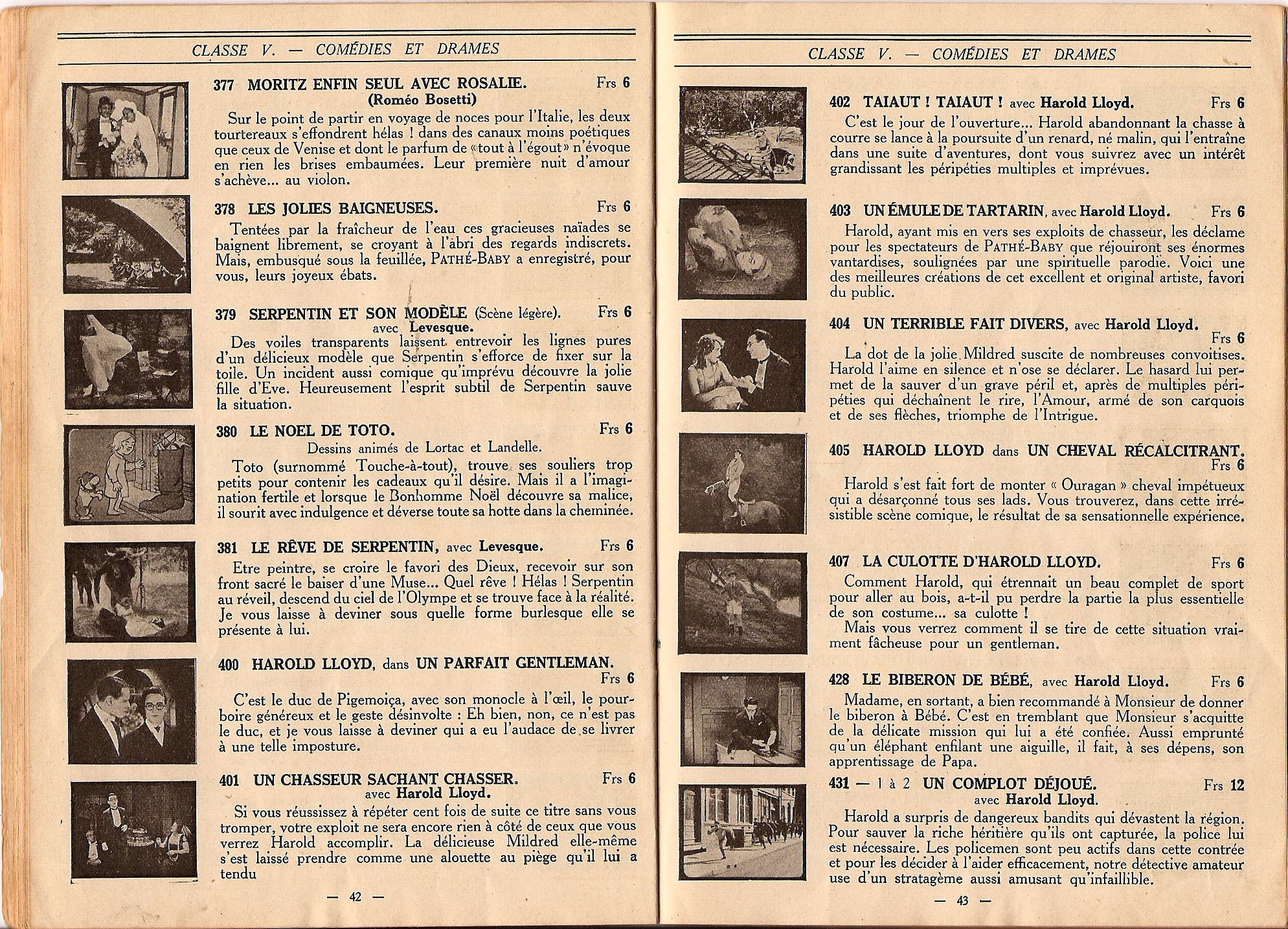 Baby Film Catalogues
